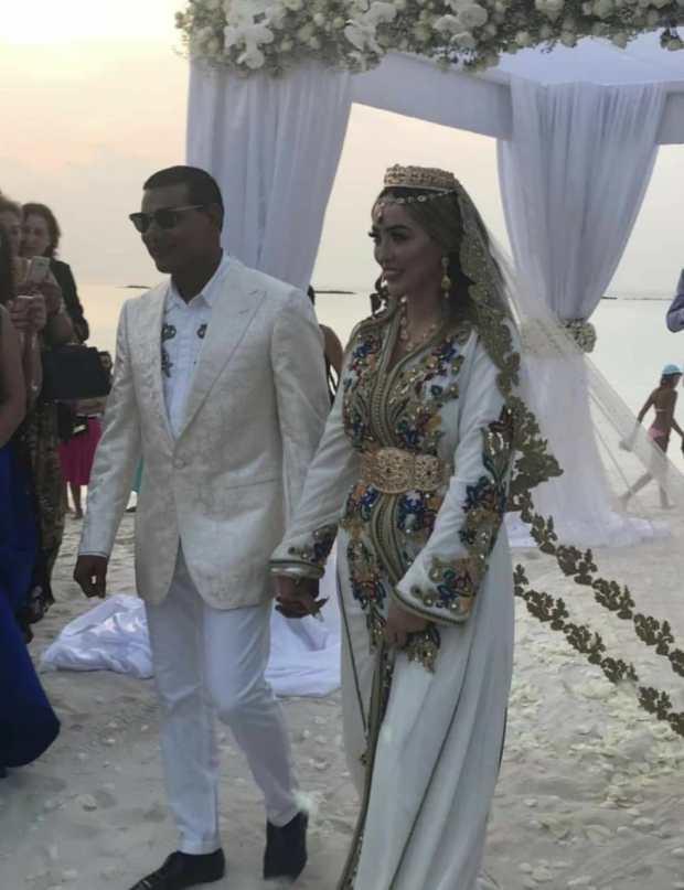 بالصور والفيديو.. مليونير من المالديف يتزوج فتاة مغربية