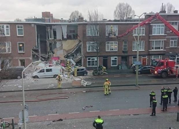 انهيار منازل وسقوط ضحايا.. انفجار عنيف يهز لاهاي الهولندية