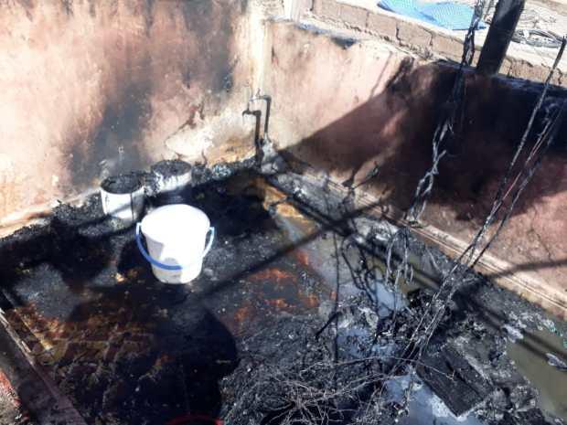 بالصور من مراكش.. حريق في مزل بسبب بريكة