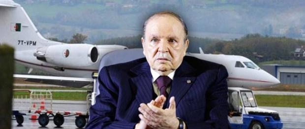 ترونات فالجزائر.. طائرة بوتفليقة تعود من جنيف بدون الرئيس