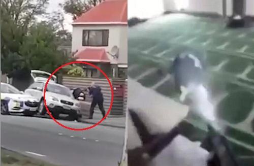 بالفيديو.. شجاعة شرطي تنهي رحلة هروب منفذ مجزرة نيوزيلندا