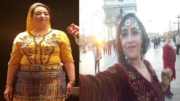 بالصور.. تيحيحيت وكلثومة بإطلالات أمازيغية من أوروبا