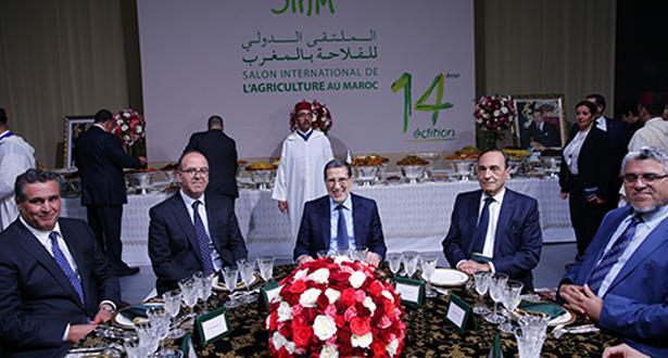 ترأسها العثماني.. الملك يقيم مأدبة عشاء على شرف الضيوف والمشاركين في المعرض الدولي للفلاحة