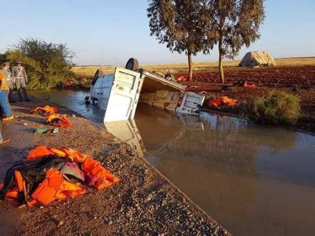 بالصور.. ارتفاع حصيلة ضحايا حادثة سير بركان