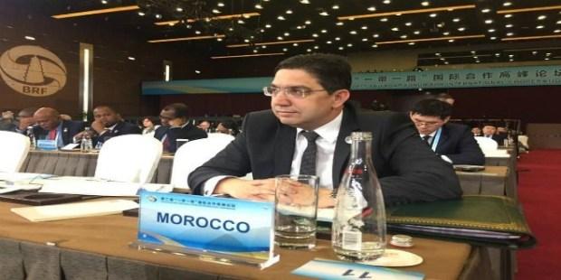 """بوريطة: الصين تعتبر المغرب فاعلا مهما في تنفيذ مشروعها الاستراتيجي الكبير """"الحزام والطريق"""""""