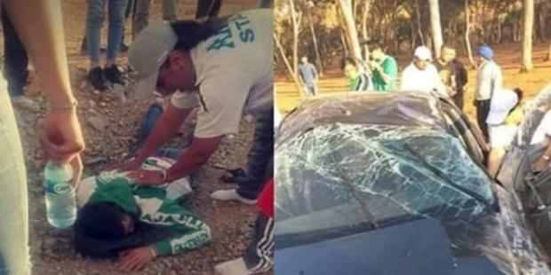 عقب نهاية مباراة الديربي.. مشجعون رجاويون يتعرضون إلى حادثة سير خطيرة