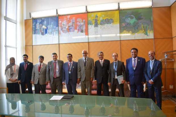 على هامش مؤتمر منظمة العمل الدولية.. يتيم يلتقي عددا من الوزراء في جنيف (صور)