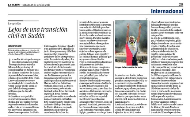 يومية لاراثون الإسبانية : حلول ممكنة لحل الأزمة السودانية