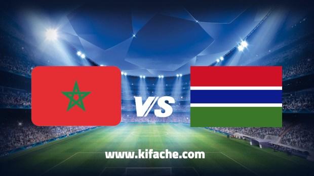 المغرب ضد غامبيا – بث مباشر