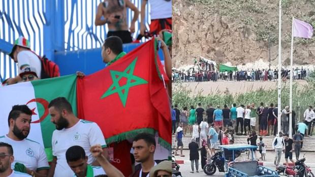 خاوة على المدرجات وخاوة على الحدود.. الجماهير المغربية والجزائرية تخلق الحدث (صور وفيديوهات)