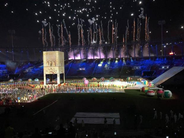 بحضور الأمير مولاي رشيد.. صومعة حسان وسط ملعب مولاي عبد الله في افتتاح الألعاب الإفريقية (صور)