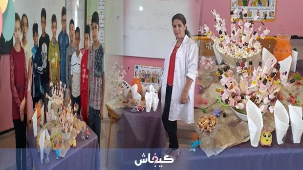 برافو عليها.. معلمة تخصص استقبالا مميزا لتلاميذها في مدرسة في أكادير (صور)