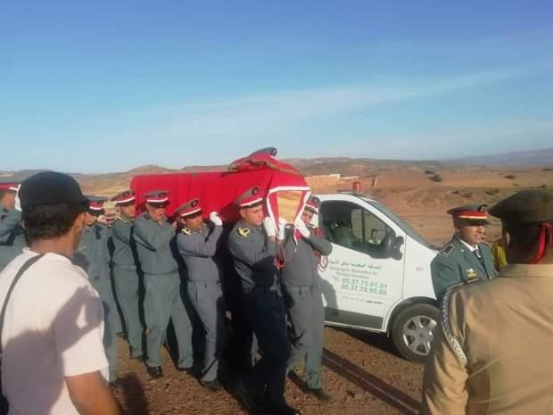 بالصور من خنيفرة.. جنازة الدركي الذي دهسته سيارة في الهرهورة