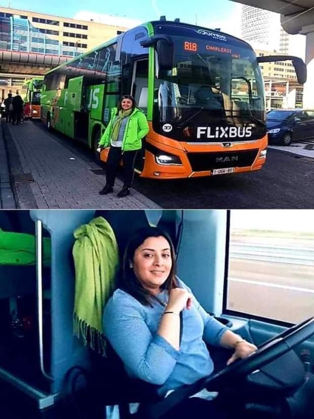 إلهام نويرة.. مغربية تقود الحافلات الدولية في بلجيكا