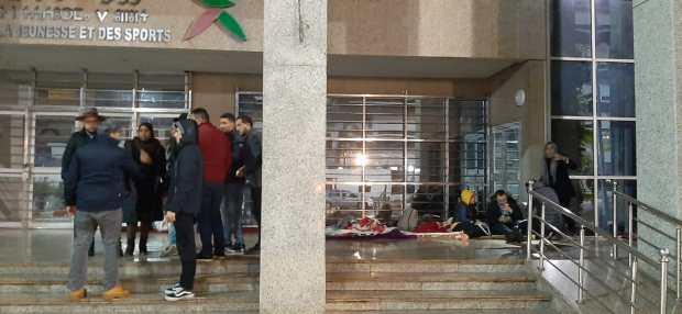 """بدأوا إضرابا عن الطعام.. """"الموظفون الجدد في قطاع الشباب والرياضة"""" ما مفاكينش"""