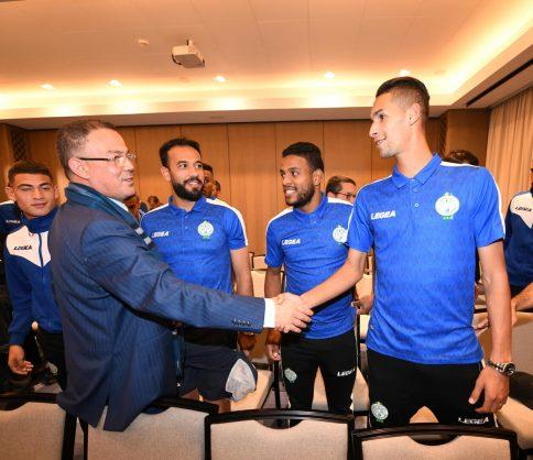 عقب تأهله إلى نصف نهائي كأس محمد السادس.. لقجع يهنئ الرجاء