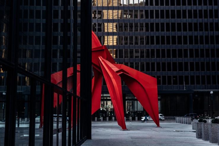 """Alexander Calder's """"Flamingo"""", Chicago"""