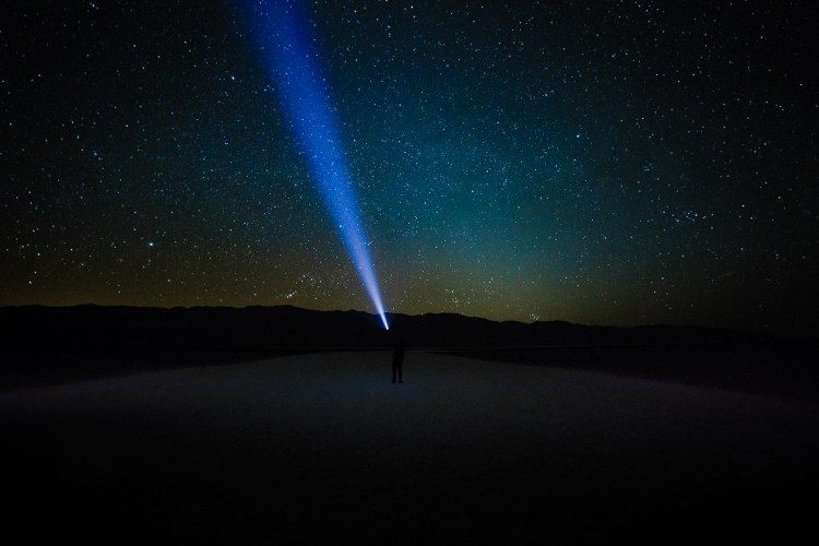 Night at Badwater Basin, Death Valley