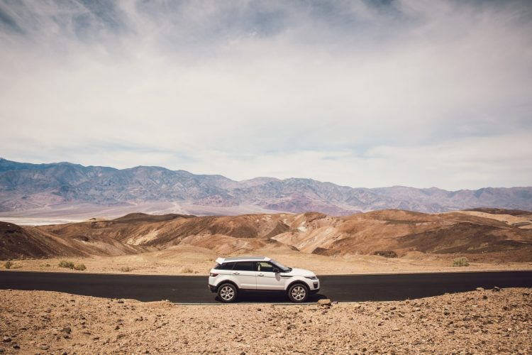Our Range Rover in Death Valley