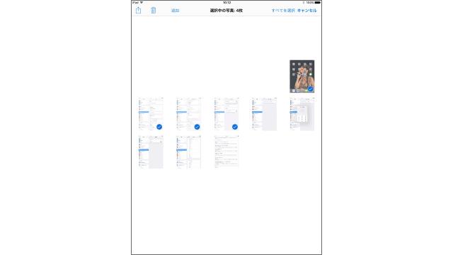 iPad複数選択画面