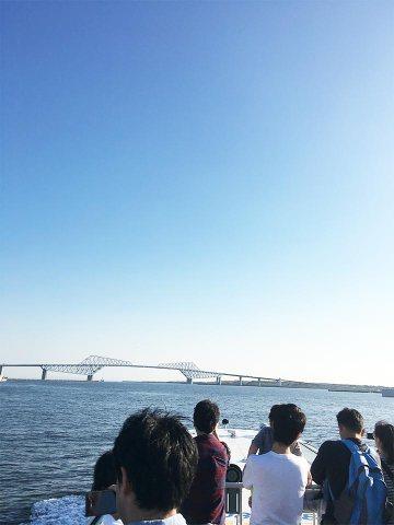 船上近景_東京水辺ライン東京湾ゲートブリッジ