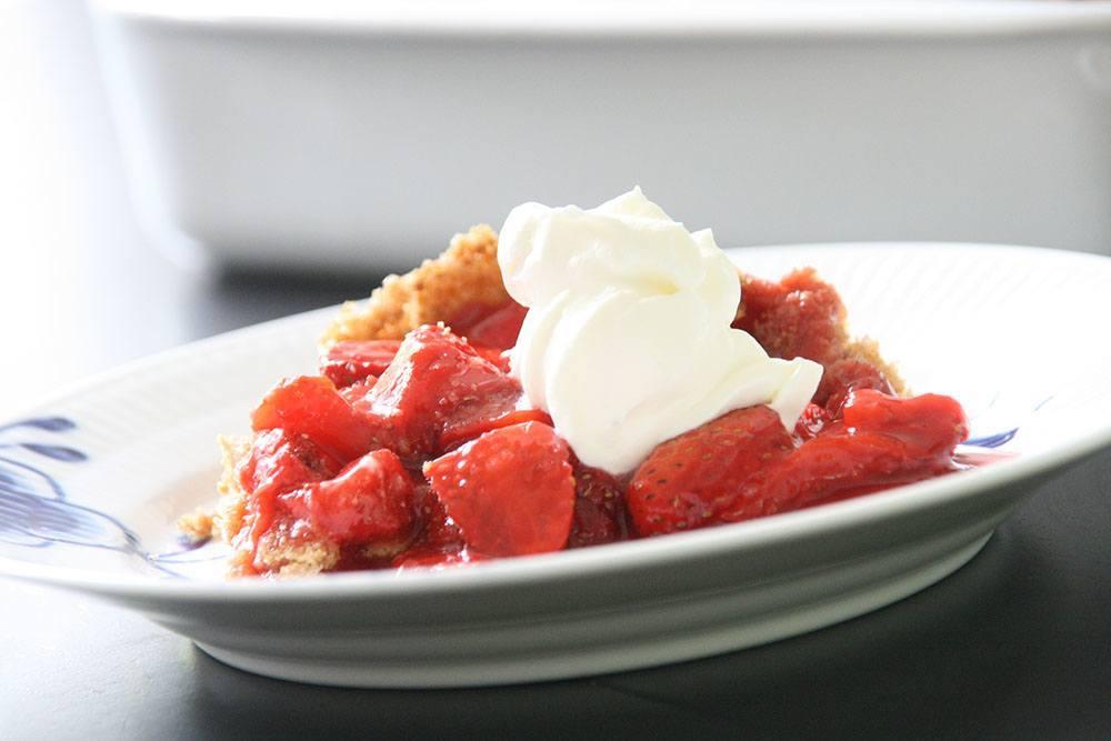 opskrift på lækker jordbærtærte