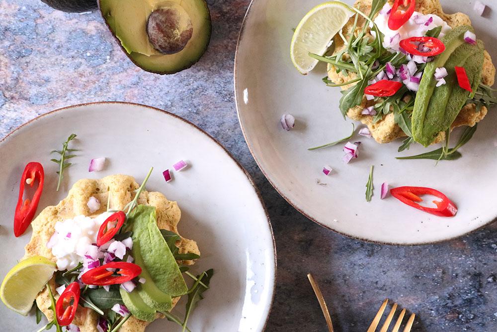 Dagens frokost - Opskrift på nok de lækreste falafel-vafler