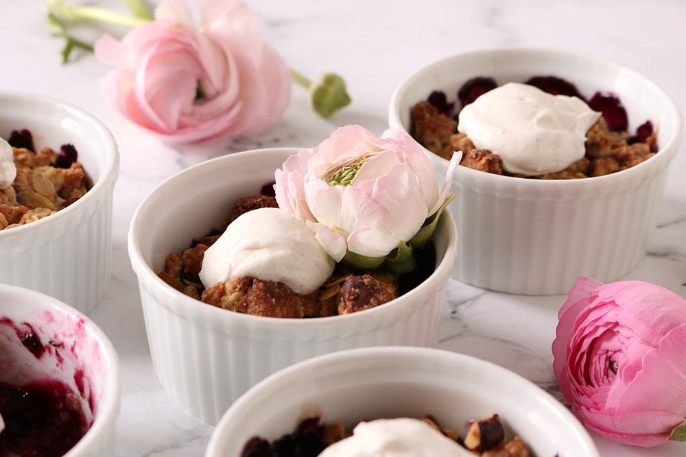 sundere crumble uden raffineret sukker