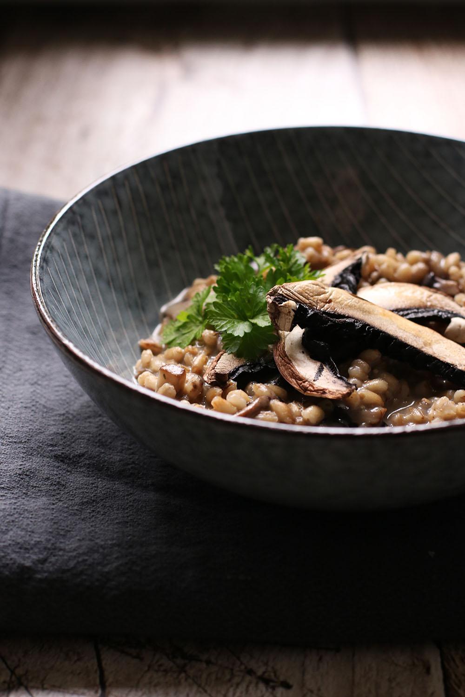 Sundt alternativ til risotto - bygotto med portobello