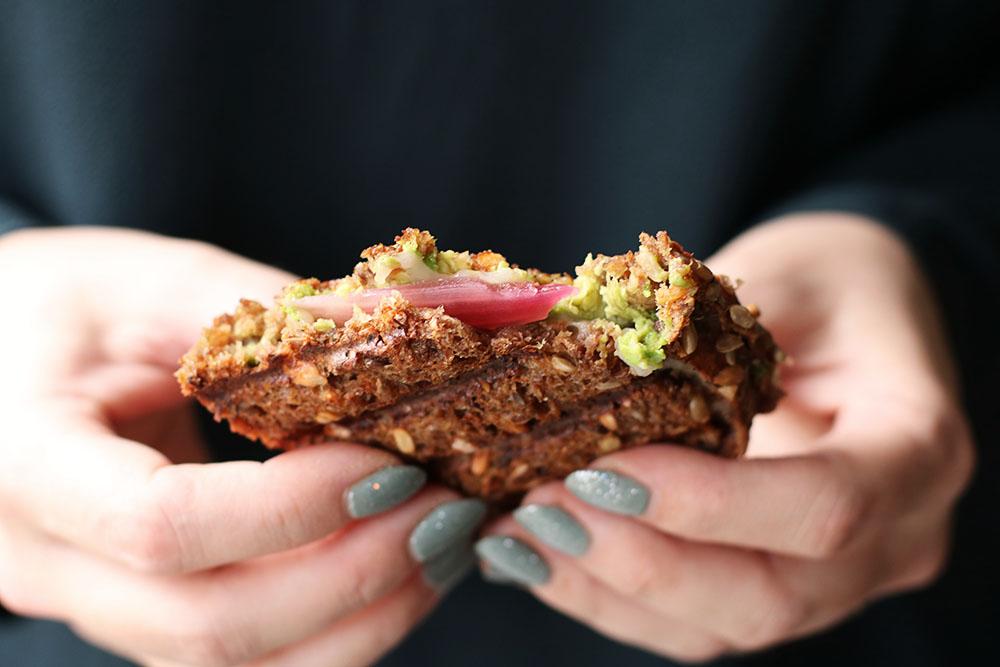 Hurtig grillet sandwich