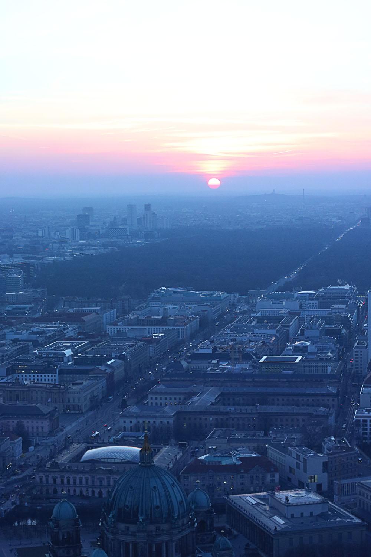 Solnedgang over Berlin