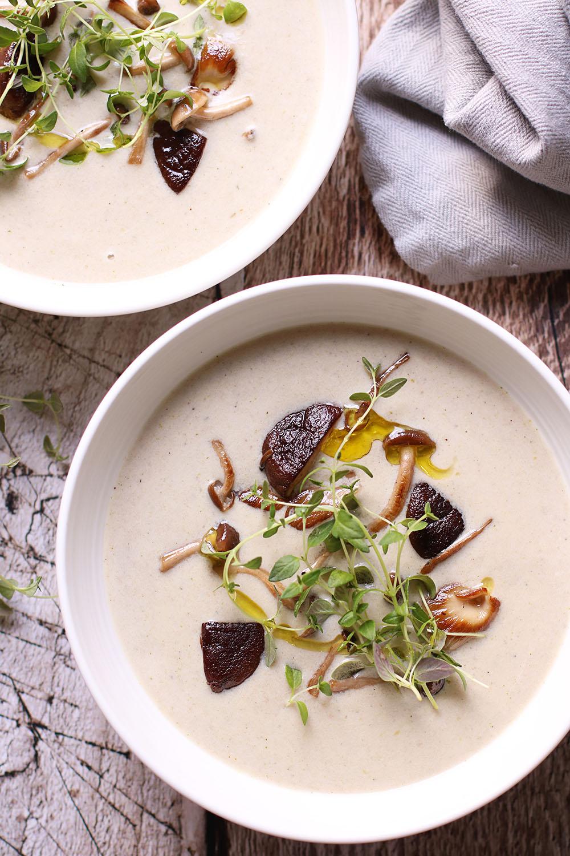 nem opskrift på svampe suppe