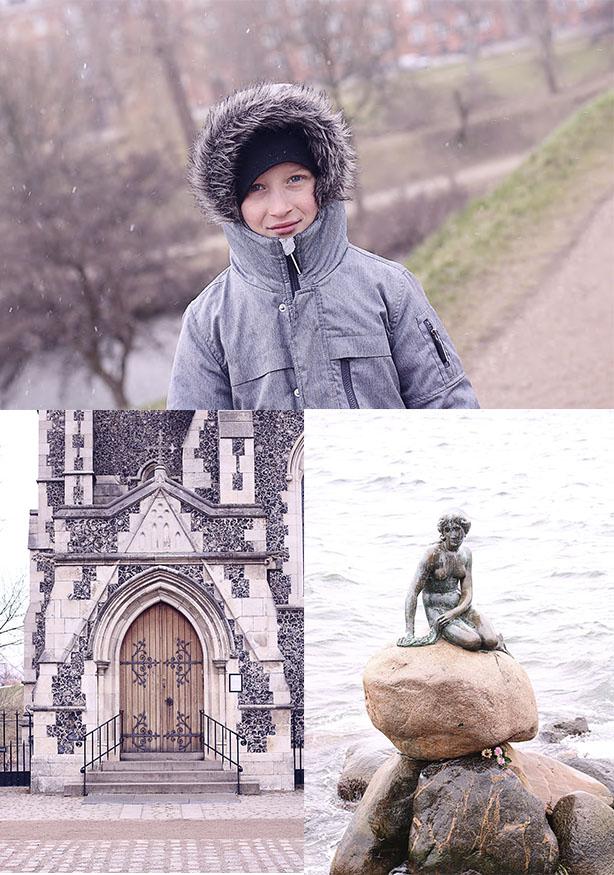 Den lille havfrue, den engelske kirke og kastellet