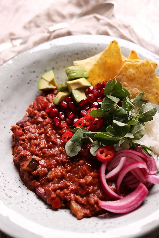 Chili sin Carne med Hakket fra Naturli'