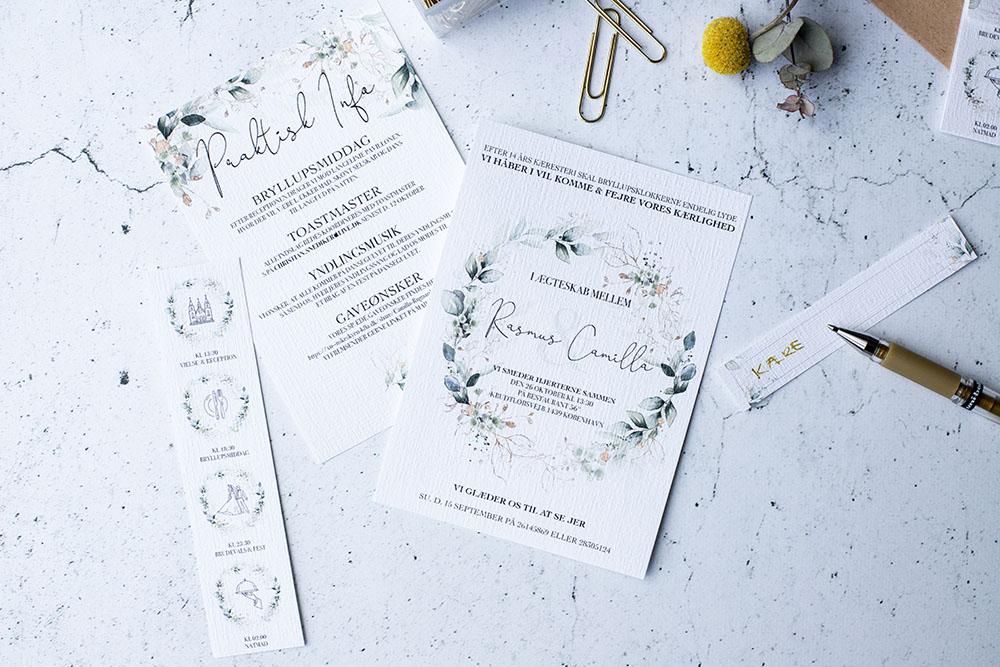 Bryllupsinvitation - eget design