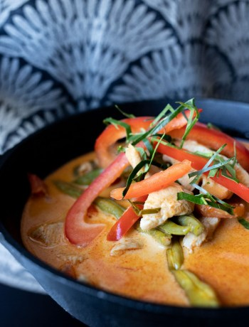 lækker spicy panang karry med kylling og grønt