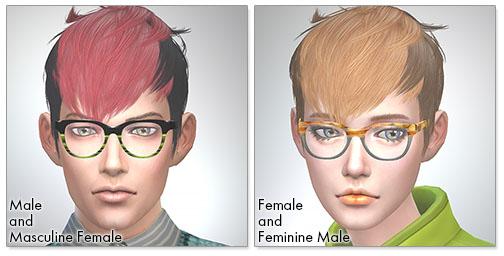 for the Sims4,Panda-Kang Kang TS3 to TS4 conversion シムズ4 髪型 Panda-Kang Kangコンバート版です。女性にも使えるようになりました。