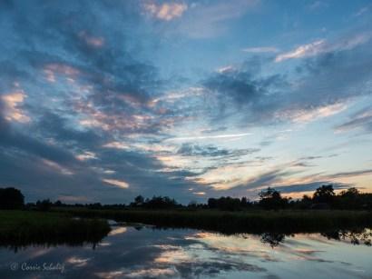 tegen zonsondergang Kamerik