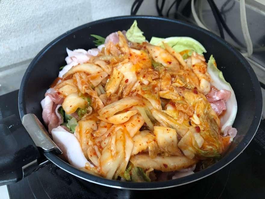 キムチ鍋仕込み