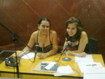 Adianet López Portieles y Doralis Molina Díaz, locutoras.