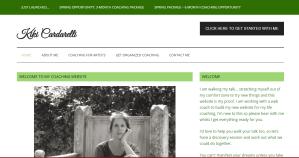 Screenshot of Kiki Cardarelli homepage