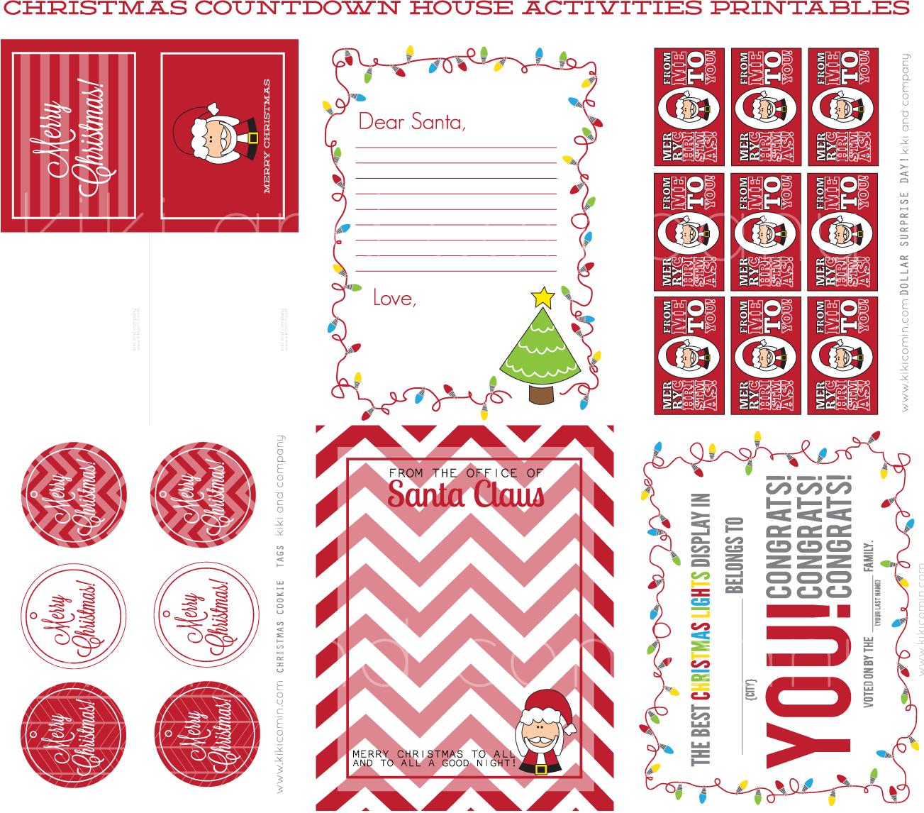 Christmas Countdown House Printables