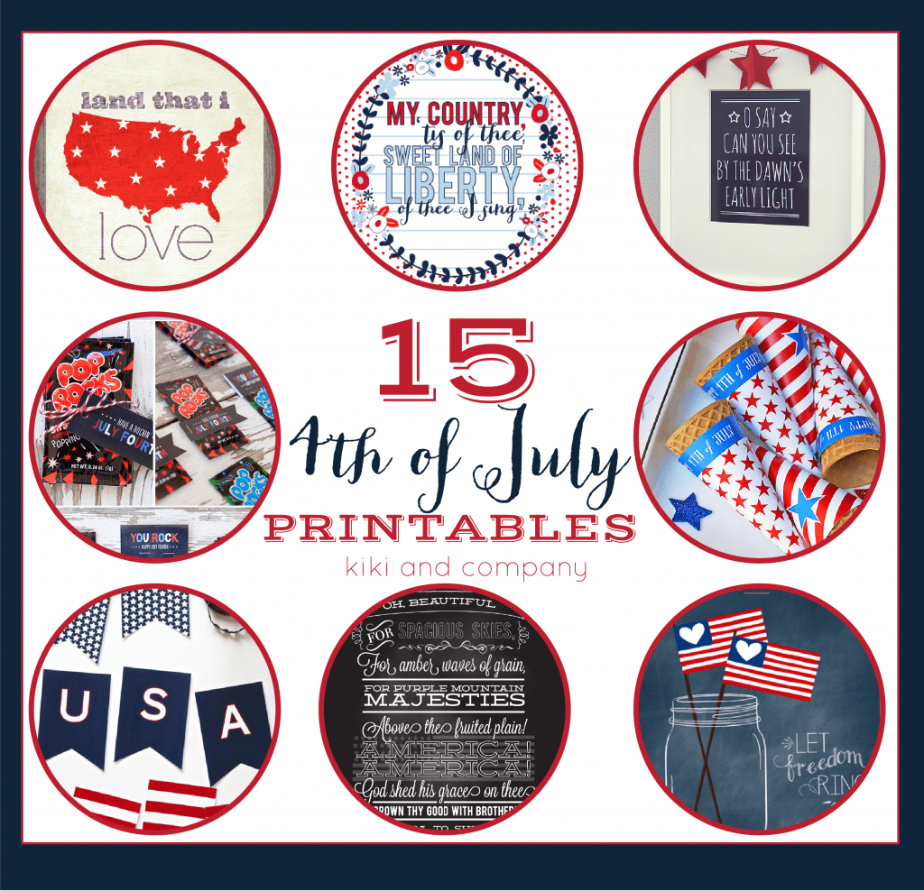 15 July Fourth Printables