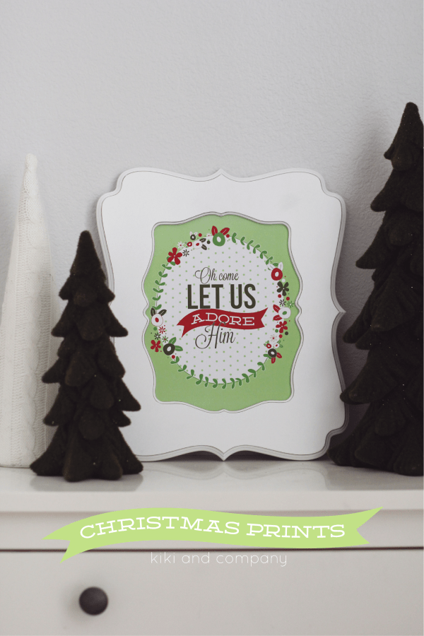 Free Christmas Prints from Kiki and Company.LOVE!