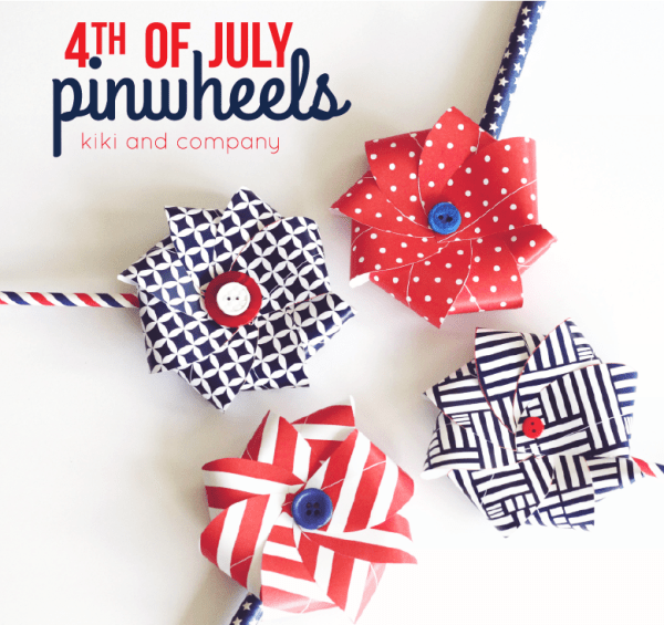 4th of July pinwheels from kiki and company. Cute!