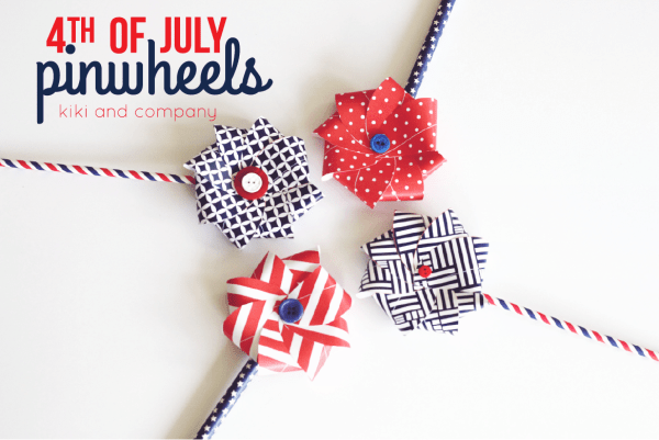 4th of July pinwheels from kiki and company. LOVE these.