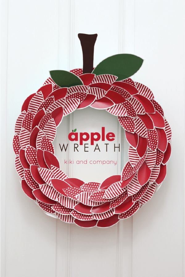 Apple Wreath from kiki and company. Super cute for Back to School!