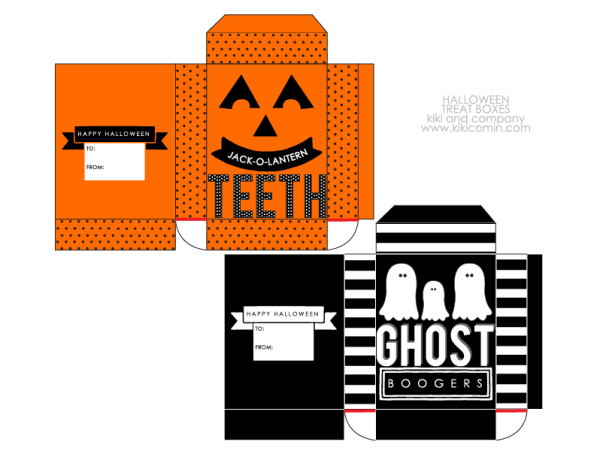 Halloween treat boxes directions
