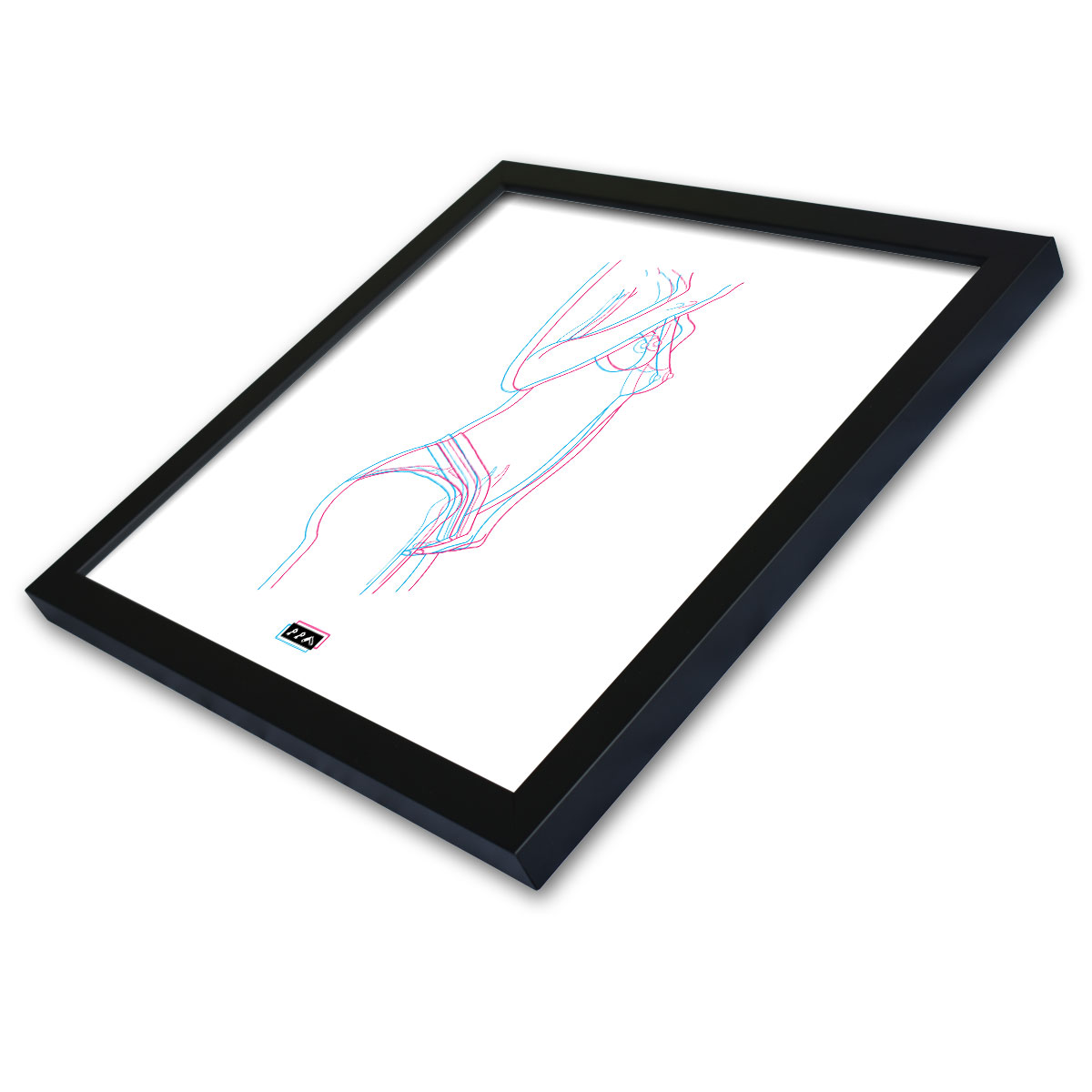 electric feelz sexy naked line drawing free the nipple framed prints by kikicutt