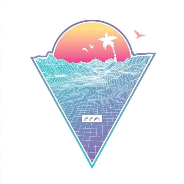 """OFF THE GRID"" cali vibes retro 80s design by kikicutt"
